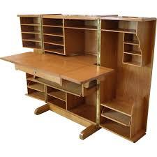 bureau convertible folding desk cabinet produced by mummenthaler meier 1950s