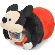 Disney Mickey Mouse Bathroom Decor by Mickey Mouse 3d Pillow With Sleeping Bag Walmart Com