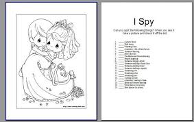 Activity Book Pic Heavy Wedding Coloring Page