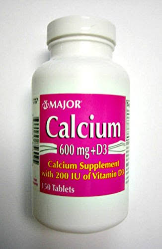 Major Calcium with Vitamin D Tablets, 600mg-200u, 150ct (2 Pack)