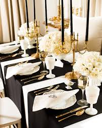 This Black Gold And White Table Setting Suggests A More Mature Elegant Sophisticated Bride Groom Could Have Been City Wedding Was Most