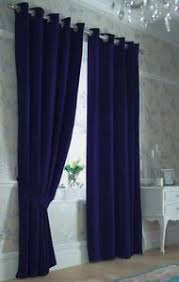ikea merete navy blue window curtains 57 x 118 pair 100 cotton