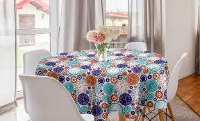 abakuhaus tischdecke kreis tischdecke abdeckung für esszimmer küche dekoration jahrgang uhr mit römischen ziffern kaufen otto