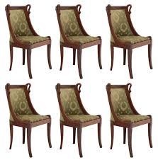 Six Dining Chairs French Empire Revival Swan Neck To Recover ... Delightful Reupholster Ding Chair Seat And Back Of 6 Ding Table Chairs How To A With Pictures Wikihow Six Art Deco Chairs French Moustache Use Recover Image Of Casual Reupholstering Room Fabric Pazzodalcarlocom Room 4 Steps We Recover Fully Upholstered In New Fabric Faux Leather The 100 Images How American Midcentury Designed By John Keal Fascating Much To Sofa Do It Yourself