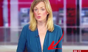 Reporter Wears Plunging Neckline On BBC Look East