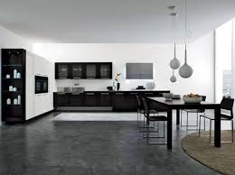 Image Of Black And White Kitchen Decoration Luxurious Look