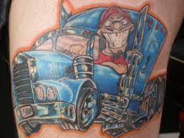100 Semi Truck Tattoos Tattoo On Thigh Tattoo Is About 85 By 11 Inches 6