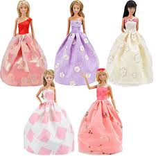 amazon com e ting lot 5 fashion gorgeous princess clothes dresses