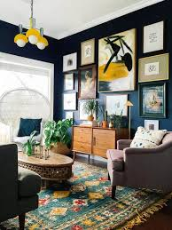 Make Way For Eclectic Home Dcor Living Room With CarpetModern