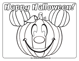 Halloween Coloring Pages Mickey Pumpkin