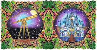 Telescope And Castle Enchanted Forest Johanna BasfordColoring BookColouringTelescopeCastlesEnchanted