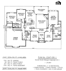 Bedroom 3 Bedroom And 2 Bath House Plans