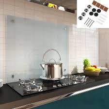 6mm esg glasplatte küchen rückwand 100x60cm aus milchglas küche fliesenspiegel