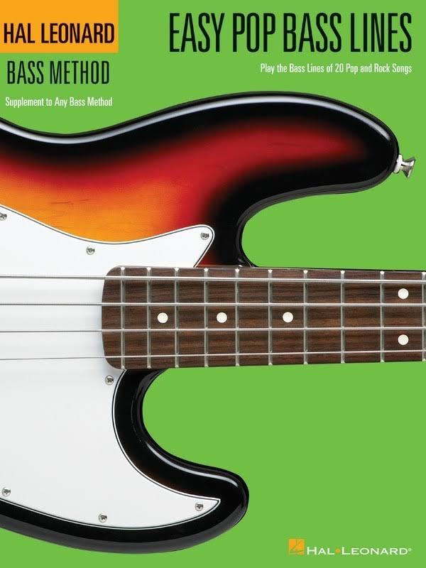 Hal Leonard Easy Pop Bass Lines Method Book