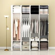 Buy White Portable Clothes Closet Wardrobe Bedroom Armoire Storage
