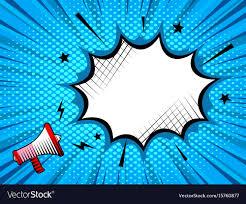 Loudspeaker Cartoon Style Poster Background Vector Image
