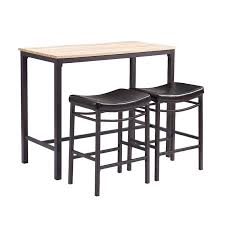 3 Piece Kitchen Table Set Walmart by Bar Stool Outdoor Bar Stool Table Sets Black Finish Round Top