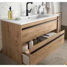badezimmer badmöbel 100 cm nevada aus eiche ostippo holz mit porzellan waschtisch 100 cm standard