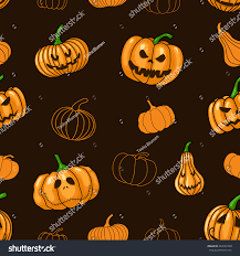 Scary Pumpkin Printable by Pattern Halloween Scary Pumpkin Vector Illustration Stock Vector