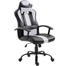 High Back Ergonomic Racing Car Style PU Leather Upholstered Seat Gaming  Chair Removable Headrest Pillow And Lumbar Cushion For Computer Desk,  Office, ... Padded Desk Chair No Wheels Belleze Modern Highback Ribbed Upholstered Conference Office Red Leather Ergonomic Design Swivel Computer Hon Managerial With Loop Arms Brown Vl402 By Furmax High Back Adjustable Armrestsexecutive Pu Task Lumbar Support Black Chesterfield Style Walnut Overstuffed Executive Fully 2xhome White Deluxe Professional Tall Comfortable Cushion Details About Armless Wood Base Wheel Fniture Flash Leather Swivel Office Chair Labafantalleorg Hotel Esther 5020 Dc1 Lugo