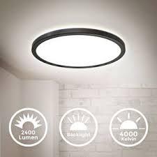 led deckenleuchte ultraflach panel deckenle indirektes licht flur 18w schwarz