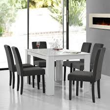en casa esstisch weiß mit 6 stühlen grau textil 140x90