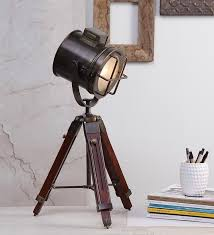 Photographers Tripod Floor Lamp Bronze Finish by Industrial Style Vintage Movie Spot Light Floor Standing Tripod