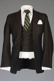 Vintage 50s 60s Rat Pack Brown Twill Wool 3 Piece Vested Gabardine Metallic Suit 38 40 S Monkey