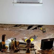 Floor Joist Jack Crawl Space by Advice 2 X10 Floor Joist Repair In 1941 House With Termite Damage