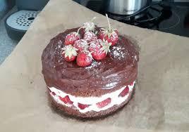 erdbeer schoko schlag torte