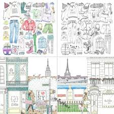 96 Pages HERS Fashion Coloring Book For Adult Children Girl Stress Relieve Kill Time Painting Drawing Graffiti Colouring Books In From Office School