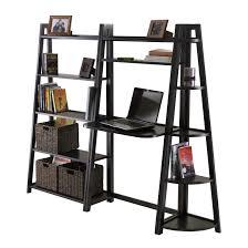 wooden ladder shelf unit brown wooden ladder shelf with wooden