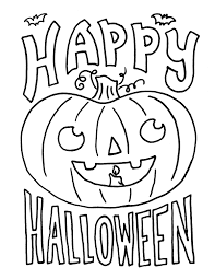 Impressive Ideas Printable Halloween Coloring Pages For Kids Happy