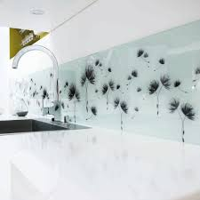credence cuisine en verre crédence cuisine adhésive sur mesure verre trempé en