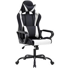 High-Back Gaming Chair PC Office Chair Computer Racing Chair PU Desk Task  Chair Ergonomic Executive Swivel Rolling Chair With Lumbar Support For Back  ...