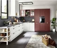 nolte moderne landhaus küche weiß hennarot