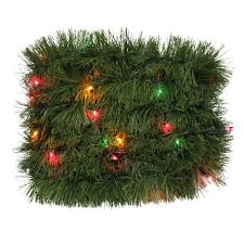 Trim A HomeR Lighted Soft Christmas Garland With Multi Lights 18 Ft