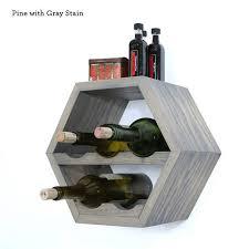 Hexagon Wine Rack Wine Storage Modern Wine Rack Geometric