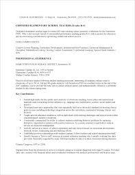 Resume Of Teacher Sample