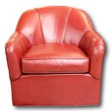 Ethan Allen Swivel Glider Chair by Ethan Allen Red Leather Barrel Chair Upscale Consignment