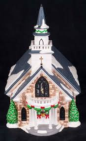 Dept 56 Halloween Village Retired by Dept 56 Snow Village Holy Spirit Church 55003 Retired Christmas