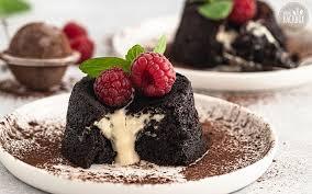 mandel lava cakes