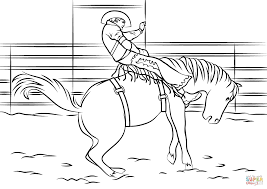 Click The Saddle Bronc Rodeo Coloring Pages