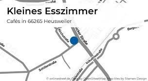 kleines esszimmer saarbrücker straße in heusweiler cafés