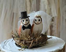 Owls Wedding Cake Topper Fall Barn