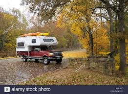 Pickup Truck Camping Camper Fall Stock Photos & Pickup Truck Camping ...