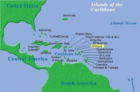 Map Of The Caribbean Showing Antigua Location
