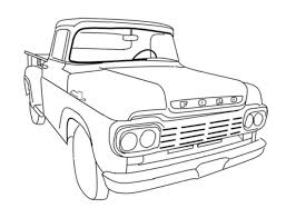 Old Truck Online Coloring Pages Printable Sheet Anbu