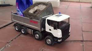 BRUDER TRUCK / RC Truck Is Carrying Various Objects | Excavator Toy ...