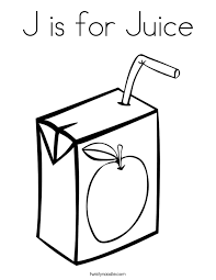 J Is For Juice Coloring Page